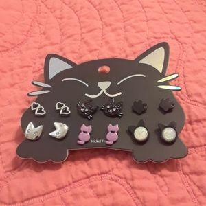 NWT Moonstone Cat Earring Set